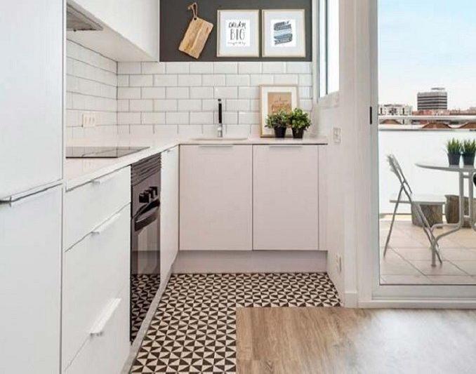 Comprar tarima flotante y combinarla con azulejo - Tarima para cocina ...