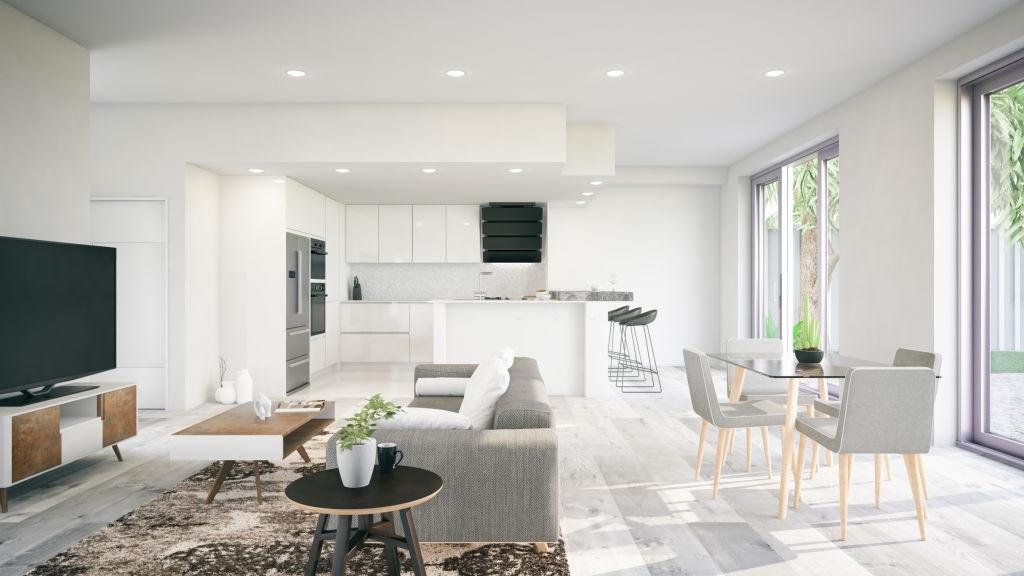 El mobiliario y los suelos
